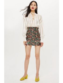Bloom Jacquard Skirt by Topshop