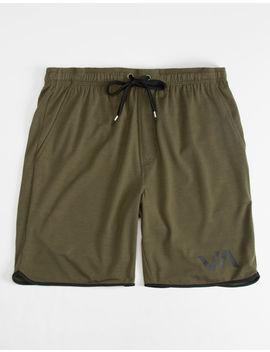Rvca Va Sport Athletic Olive Mens Shorts by Rvca
