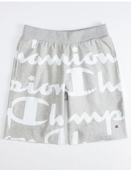 Champion Reverse Weave Cut Off Gray Mens Sweat Shorts by Champion