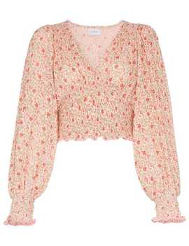 Lia Floral Printed Blouse by She Made Me