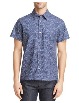 Chemisette Cippi Short Sleeve Dot Print Regular Fit Shirt by A.P.C.