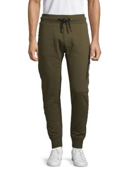 Drawstring Cotton Jogger Pants by Superdry