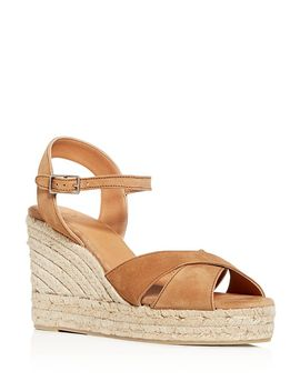 Women's Crisscross Platform Wedge Espadrille Sandals by Castañer