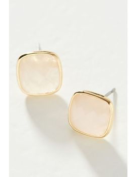 Olive Faceted Post Earrings by Anthropologie