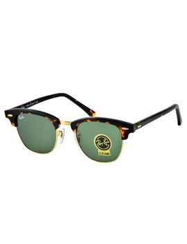 Ray Ban Rb 3016 Clubmaster W0366 Tortoise Acetate Frame/Green Classic G 15 Lens by Ray Ban