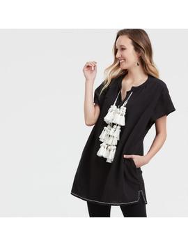 Black And White Tasseled Marfa Dress by World Market
