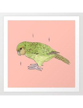 Kakapo Fundraiser Art Print by Society6