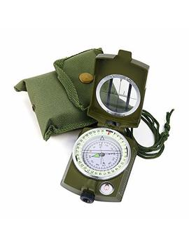 Sportneer Military Lensatic Sighting Compass With Carrying Bag, Waterproof And Shakeproof, Army Green by Sportneer