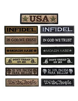 Bundle 13 Pieces Great Value Tactical Morale Patch Full Embroidery Military Patches Set For Caps,Bags,Backpacks,Tactical Vests,Military Uniforms Etc. by Antrix