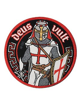 M Tac Deus Vult Crusader Morale Patches Military Army With Hook Fasteners by М Tac