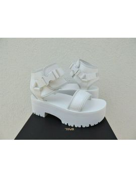 Teva White Indio Jewell Ankle Wrap Platform Sandals, Women Us 6/ Eur 37 ~Nib by Teva