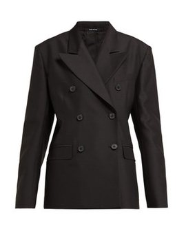 Double Breasted Wool And Silk Blazer by Maison Margiela