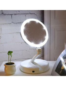 Led Makeup Mirror Foldable Professional 10 X Magnifying Mirror With Lights by Unbranded
