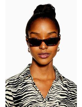 Vera Slim Tortoiseshell Sunglasses by Topshop