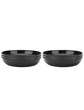 Zak Designs 0015 4230 Iset Confetti Pasta Bowls, Set, Black Pb by Zak Designs