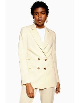 Petite Cream Suit Jacket by Topshop