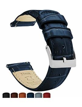 Barton Alligator Grain   Quick Release Leather Watch Bands   Choice Of Colors   18mm, 20mm & 22mm Straps by Barton Watch+Bands