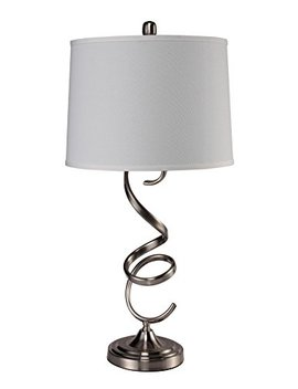 "Ore International 31192 T Industial 31.5"" Gourd Table Lamp, Brushed Silver by Ore"