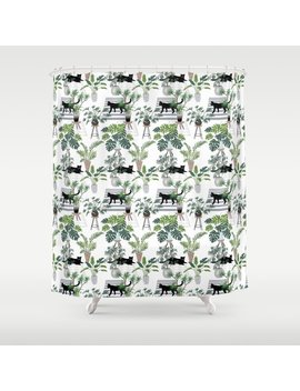 Cats In The Interior Pattern Shower Curtain by Society6