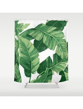 Tropical Banana Leaves Iv Shower Curtain by Society6