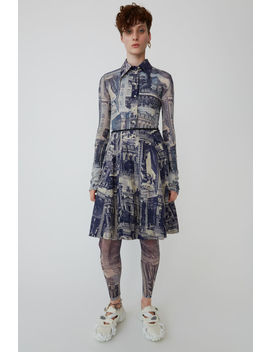 Printed Skirt Blue/Taupe by Acne Studios