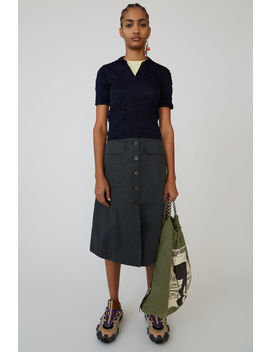 Button Skirt Anthracite Grey by Acne Studios