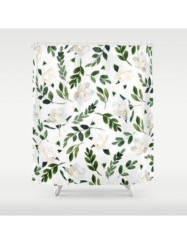 Magnolia Tree Shower Curtain by Society6