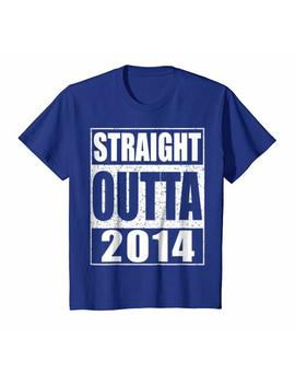 Kids Straight Outta 2014 T Shirt 5th Birthday Gift Shirt by Straight Outta 2014 Shirts
