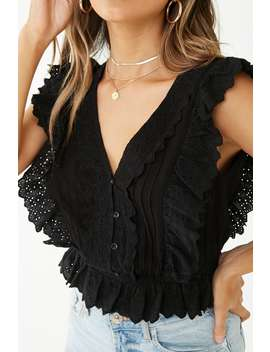 Sleeveless Eyelet Lace Top by Forever 21