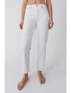Straight Fit Jeans Ivory White by Acne Studios