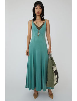 Long Jersey Slip Dress Pale Jade by Acne Studios