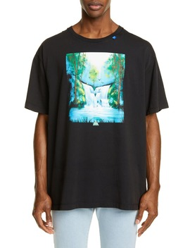 Waterfall Graphic Oversize T Shirt by Off White