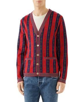 Horsebit Stripe Cardigan by Gucci
