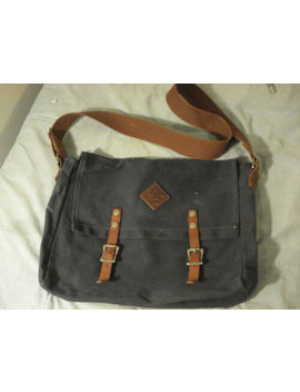 """Neverest Heavy Canvas And Leather Messenger Bag, 14"""" Usa Made, Great Shape! by Canvas"""