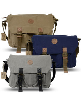 Rakuda Canvas Shoulder Messenger Bag Backpack Leather Satchel Briefcase Bookbag by Rakuda Bags