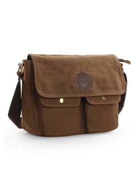 Men's Canvas Cross Body Bag Messenger Shoulder Book Bags School Satchel Vintage by Unbranded