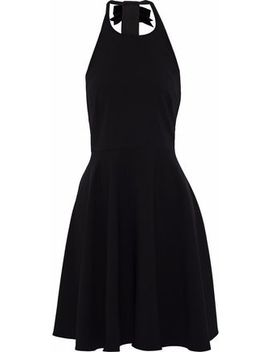 flared-embellished-cady-halterneck-dress by badgley-mischka