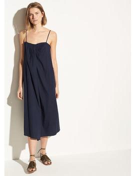 Linen Sleeveless Drape Neck Dress by Vince