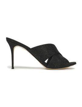 Metallic Woven Sandals by Giuseppe Zanotti