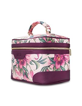 drq-large-makeup-bag-multifunction-portable-toiletry-bag-cosmetic-makeup-pouch-case-organizer-for-travel,calico-collection-cosmetic-duffle-weekender,-flower by drq