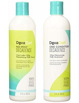 Deva Curl Decadence Duo: One Condition And No Poo Cleanser Duo, 12 Ounce Each by Deva Curl