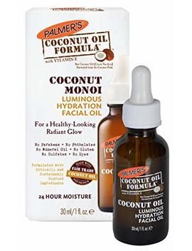 Palmer's Coconut Oil Formula, Coconut Monoi Luminous Hydration Facial Oil | For A Healthy Looking Radiant Glow | 24 Hour Moisture | 1 Fl. Oz. by Palmer's