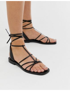 &Amp; Other Stories Strappy Flat Sandals In Black by & Other Stories