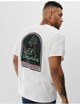 Boohoo Man Oversized T Shirt With El Dorado Print In White by Boohoo Man